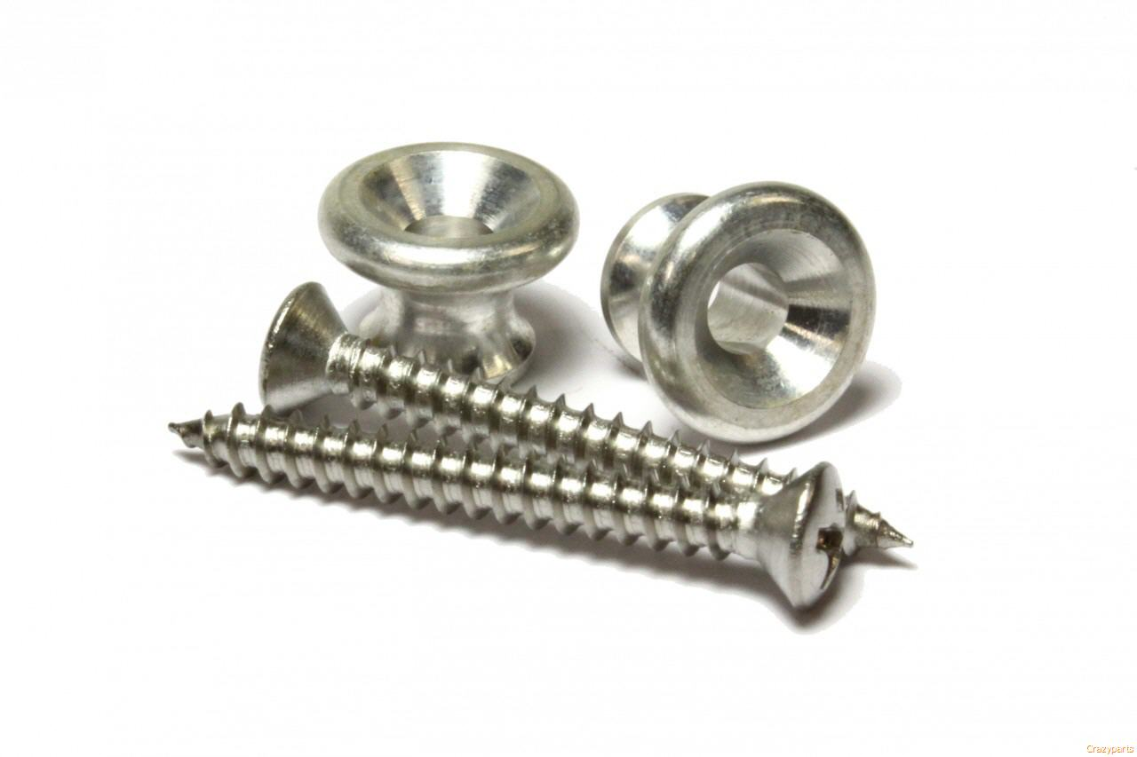 - NICKEL Gibson Style Strap Buttons /& Screws NEW 2